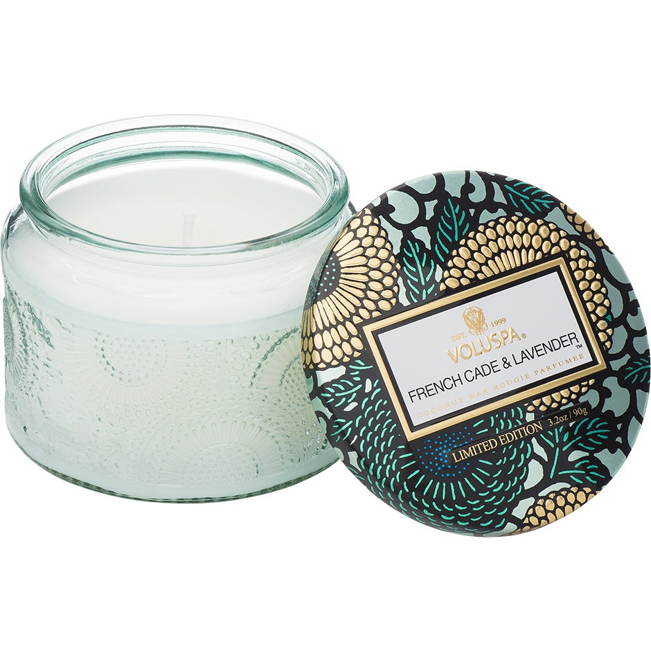 French Cade & Lavender - Small Glass Jar Candle 90g thumbnail
